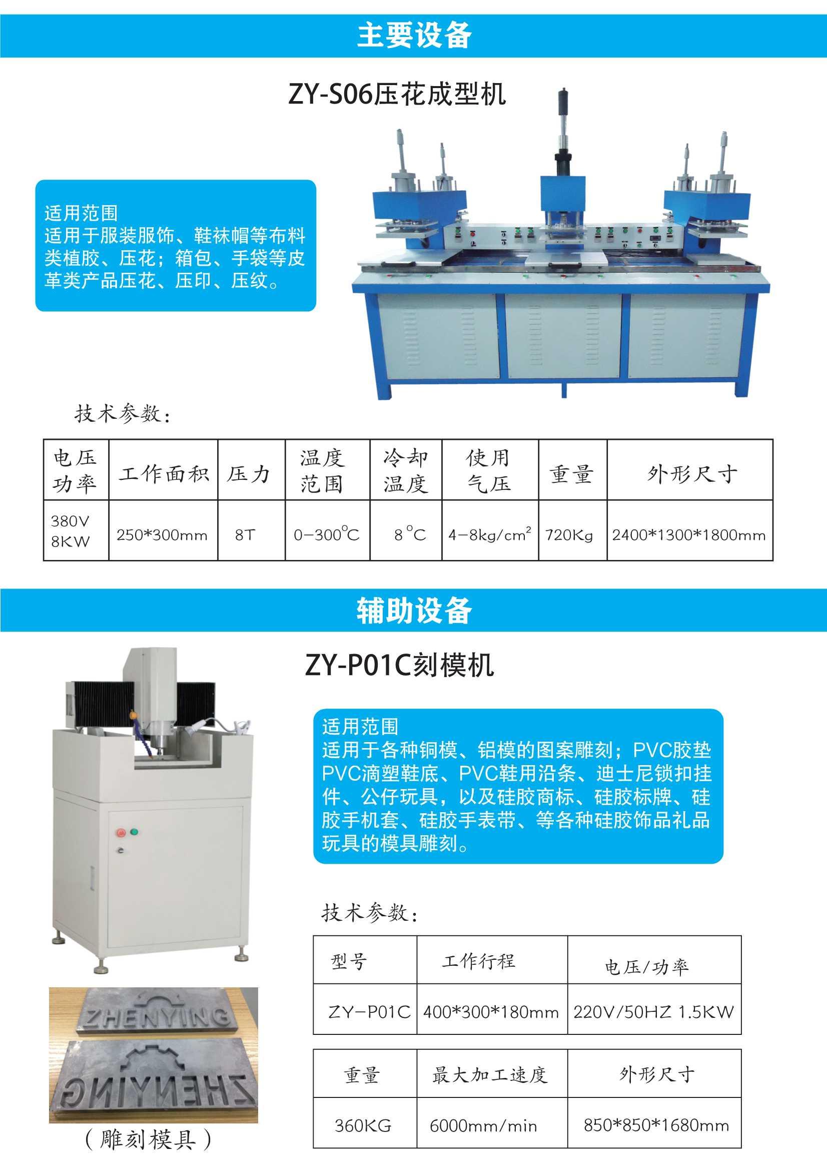 矽利康冷熱壓花機