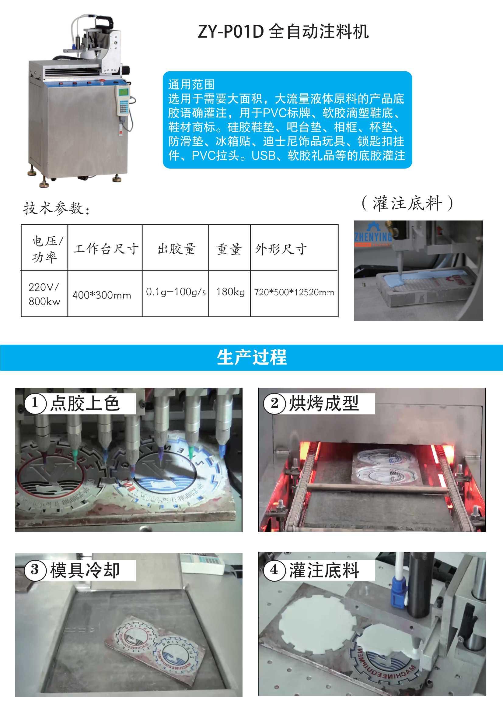 液態PVC12色點膠機